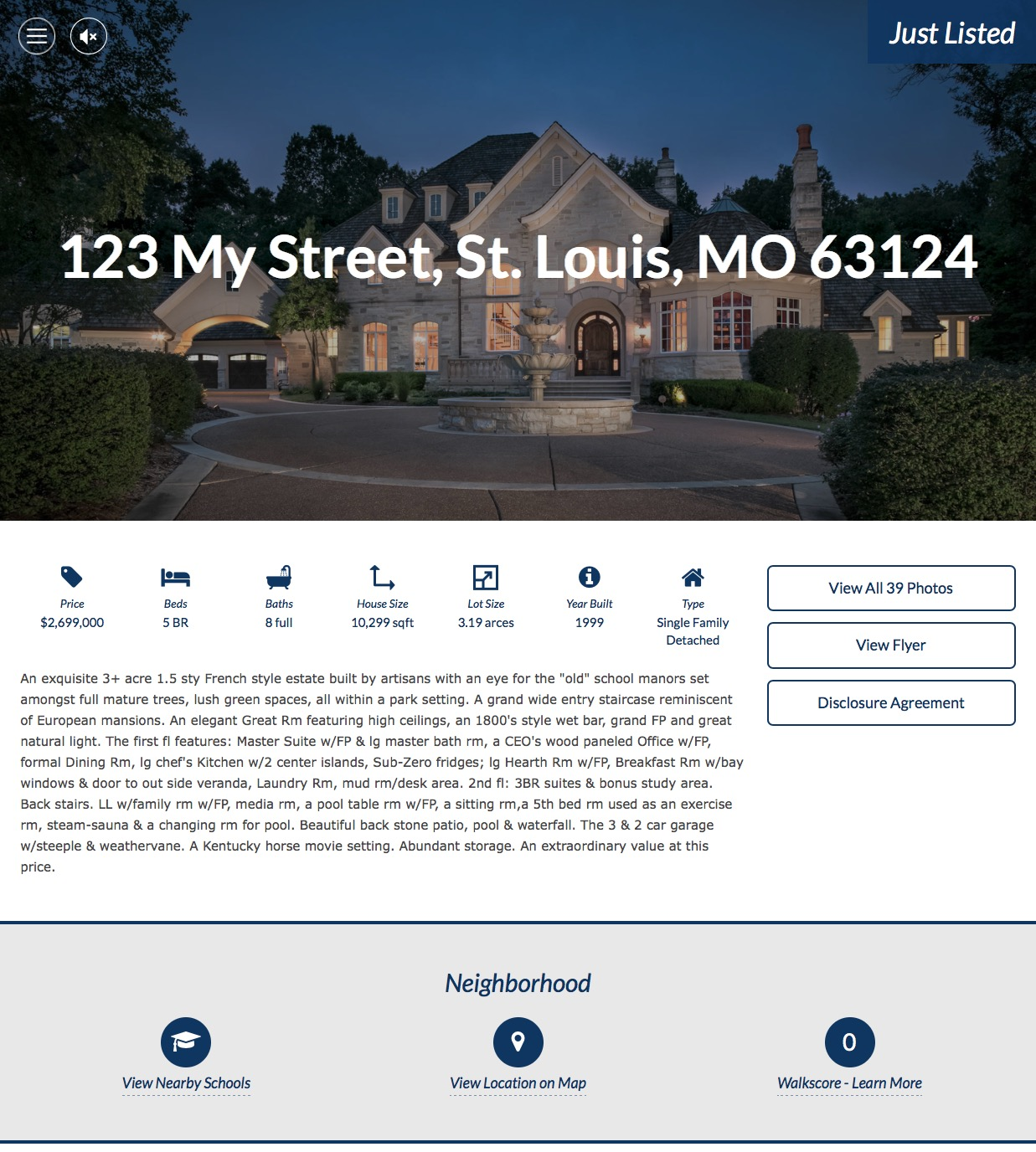 St Louis Residential Real Estate Property Website